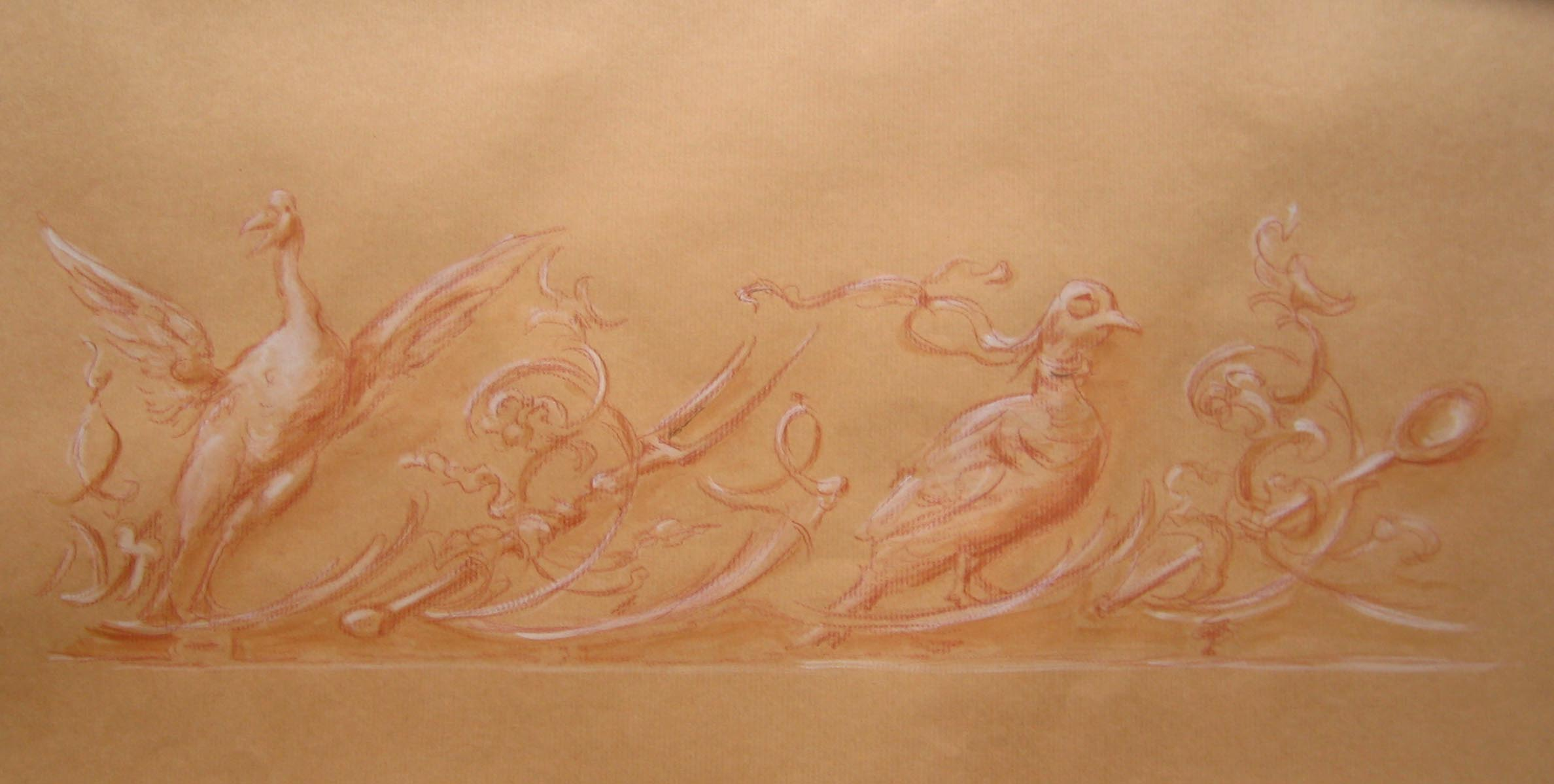 Entwurf für die Dekorationsmalerei